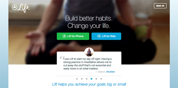 Lift - an app that helps you reach your goals