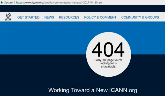ICANN.org 404 page