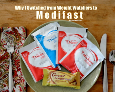 Why I Switched to Medifast from Weight Watchers ♥ KitchenParade.com