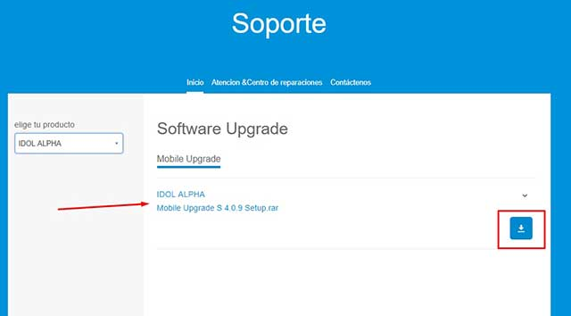 descargar alcatel mobile upgrade