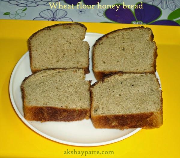 slice the bread and store -preparing wheat flour honey bread