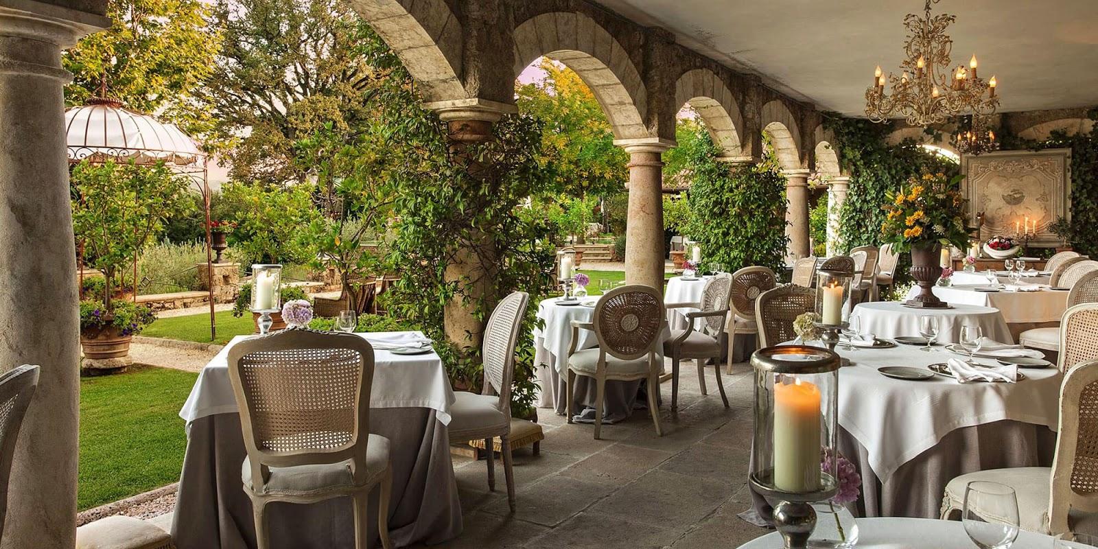 Breathtaking terrace at the Italian villa Borgo Santo Pietro - found on Hello Lovely Studio