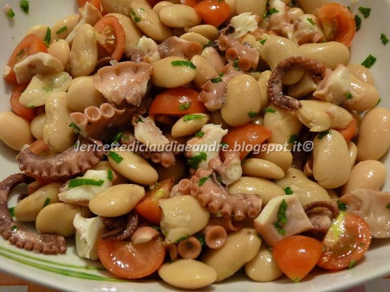 Molto Le ricette di Claudia & Andre : Insalata di moscardini, fagioli  JR04