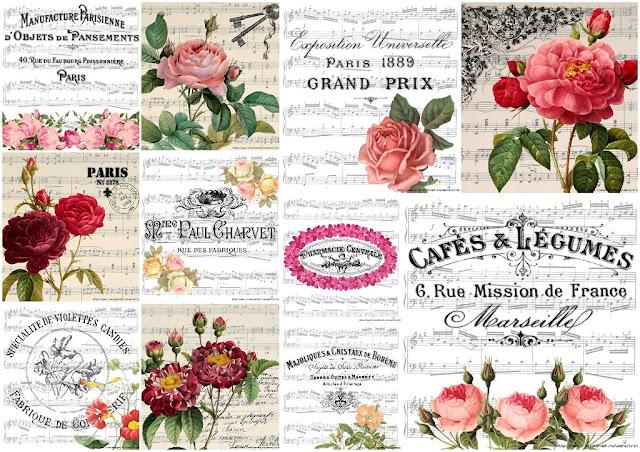 Flores Retro sobre Partituras.