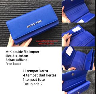 Jual Dompet MK Double Flip Wallet Import