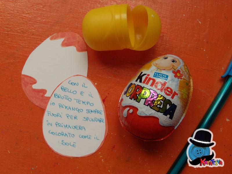 Caccia al tesoro con uova di pasqua kinder