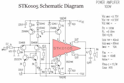 STK0105 power amplifier circuit diagram