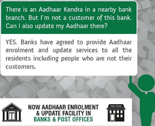 aadhar enrollment centers bank