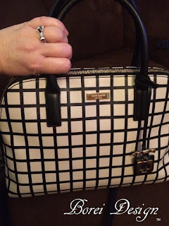 kate spade hand bag and bow ring photo by Borei Design