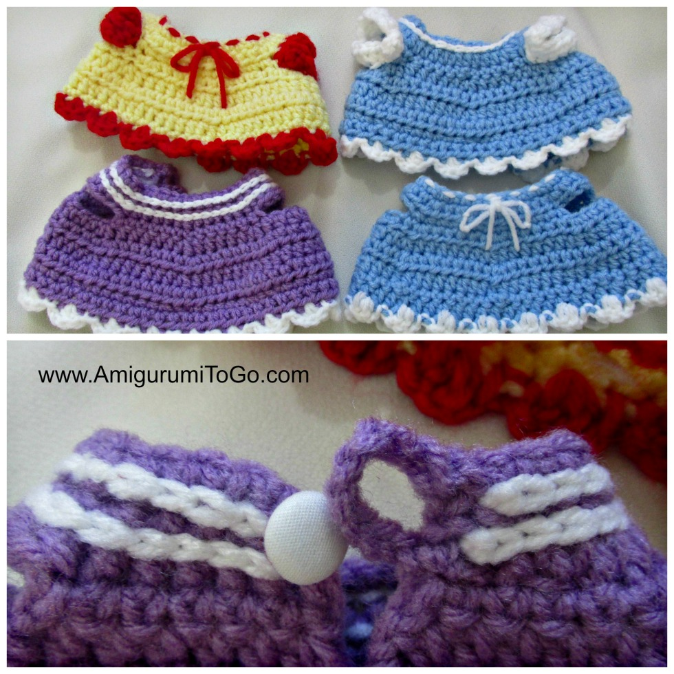 Crochet Dress and Vest ~ Amigurumi To Go