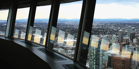 Calgary Tower Observation Deck Alberta