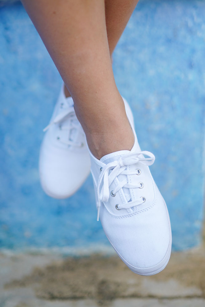 women wearing white keds and white socks