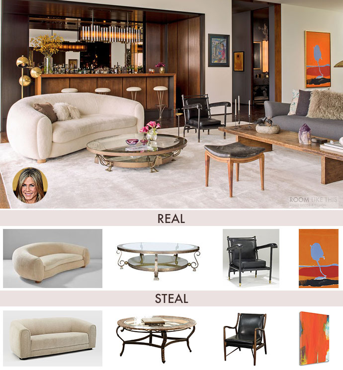 Jennifer Anistonu0027s 70s Style Bel Air Living Room   On A Budget