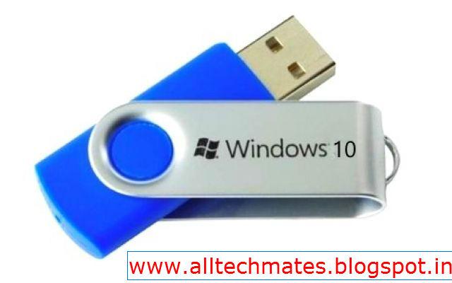 create usb boot disk windows 10 cmd