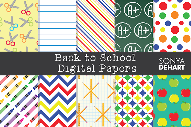 Teacher gift ideas, Silhouette Cameo, Silhouette tutorial, digital papers, back to school