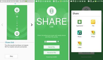 Share Link Zenfone Ui