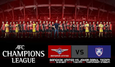 Live Streaming JDT FC vs Bangkok United Kelayakan Pusingan Kedua AFC Champions League 2017