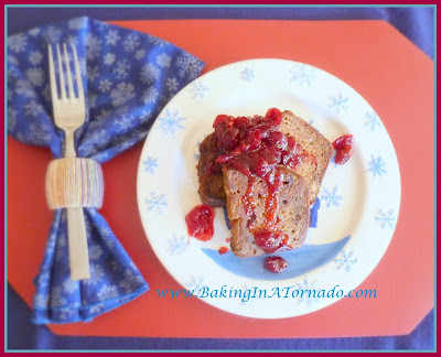 Cinnamon Pumpkin French Toast With Cranberry Sauce | www.BakingInATornado.com | #recipe #breakfast