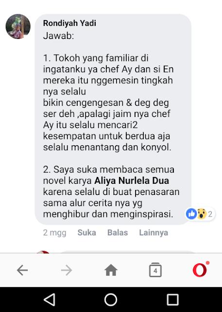 Testimoni Rondiyah Yadi (Ngawi) Tentang Tokoh Novel dan Sosok Novelis Aliya Nurlela