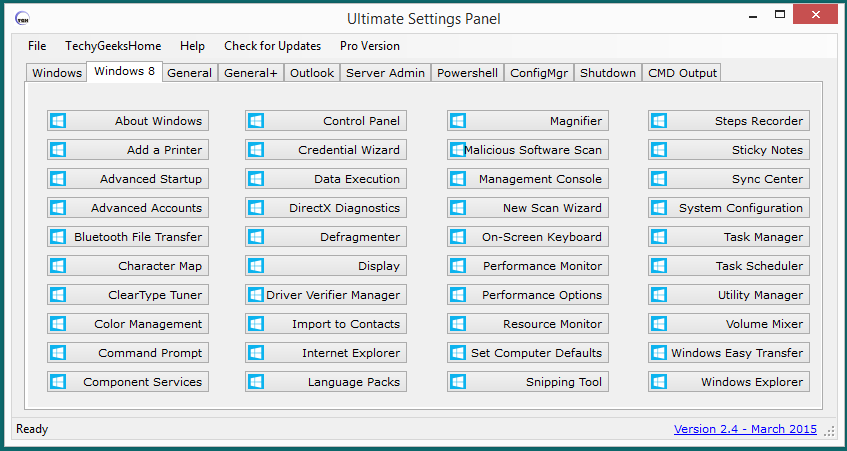 Ultimate Settings Panel version 2.4 Released 3