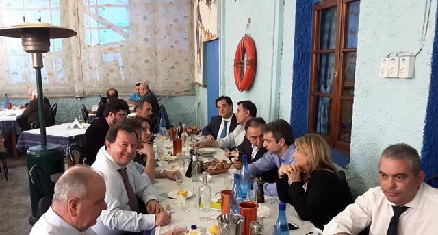 Με τον πρόεδρο της ΝΔ κ. Μητσοτάκη συνέφαγε ο βουλευτής Θεσπρωτίας Βασίλης Γιόγιακας