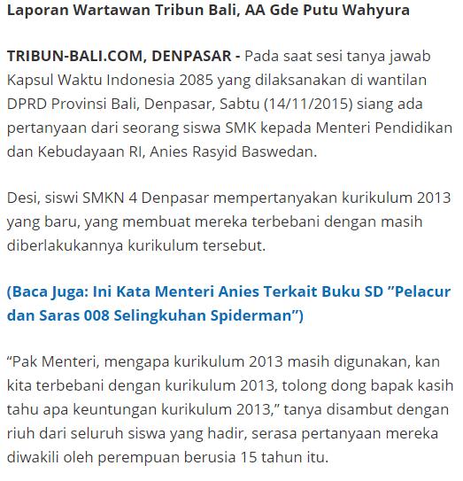 gambar berita Mendikbud tentang kurikulum 2013
