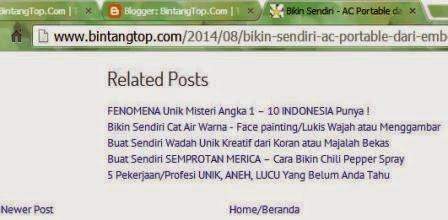 WIDGET ARTIKEL TERKAIT Paling Mudah Tanpa Edit Template - Blogger Related Post