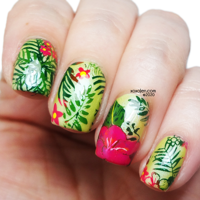 xoxoJen's swatch of Tigerking Jungle Nailart feat. Tonic Grateful