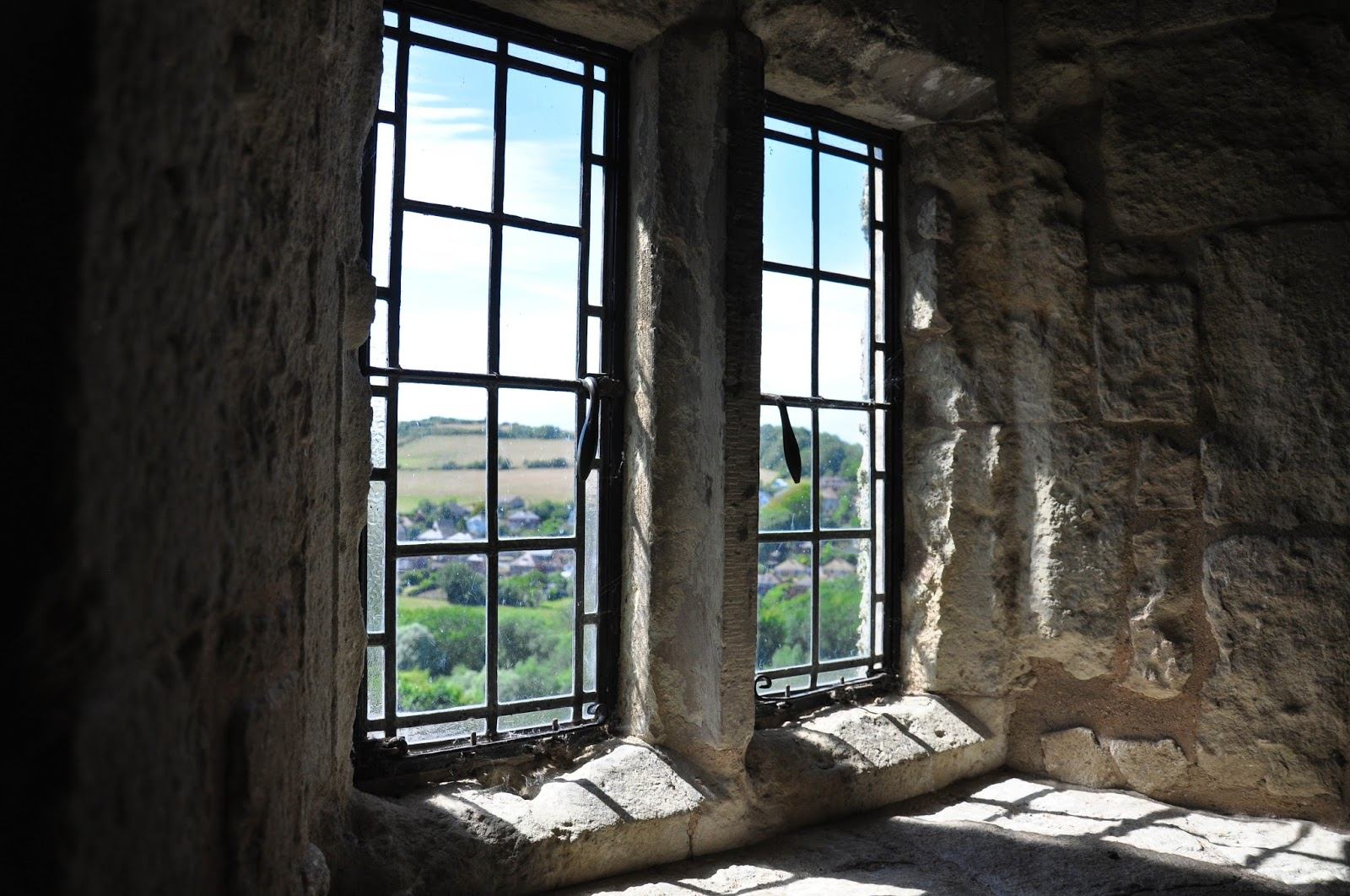 Window facing the beautiful landscape, Carisbrook Castle, Isle of Wight, UK - www.rossiwrites.com