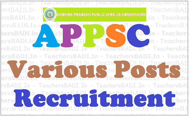 APPSC jobs, Fisheries Development Officers, Recruitment 2017