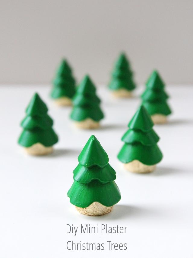 DIY MINI PLASTER CHRISTMAS TREE DECORATIONS Gathering Beauty - mini christmas tree decorations