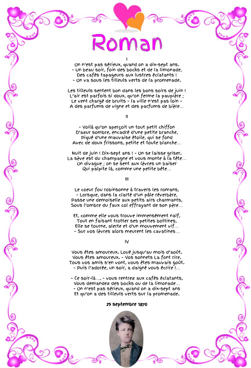 Roman, poème d'Arthur Rimbaud