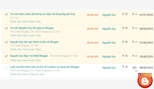 Lên lịch đăng bài viết tự động trên Blogger