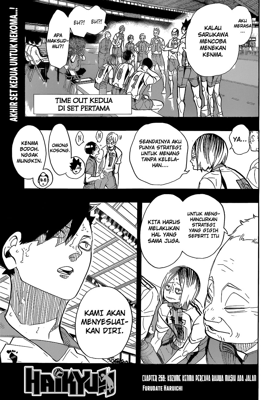Haikyuu!! – Chapter 268: Kozume Kenma Percaya Bahwa Masih Ada Jalan