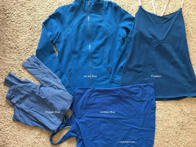 lululemon color-comparison jet-set-blue poseidon-limitless-rugged-blue