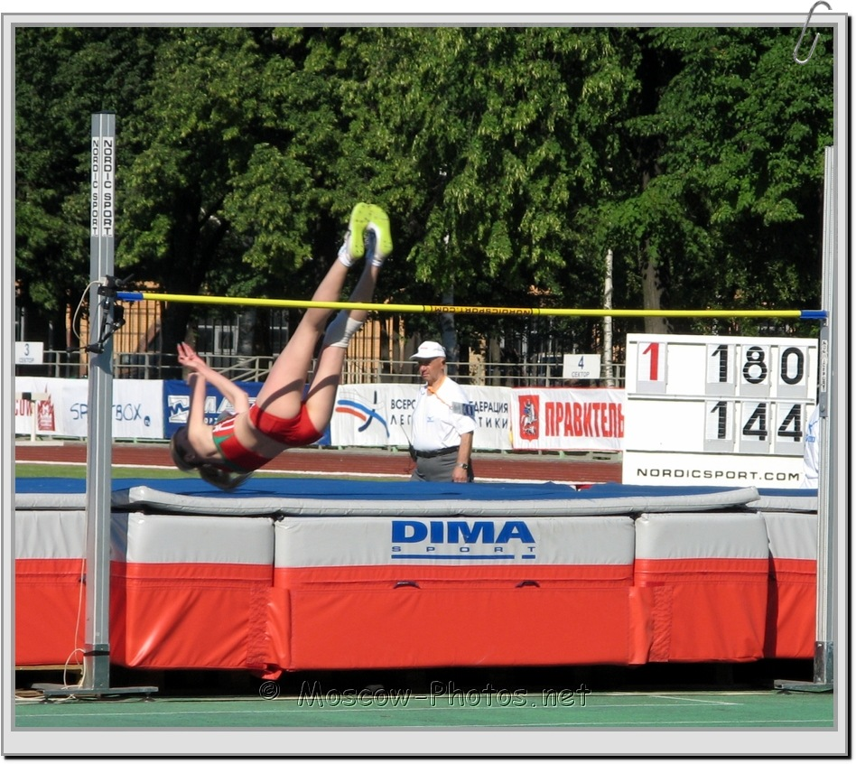Fosbury Flop Jump at Moscow Athletics Open 2010