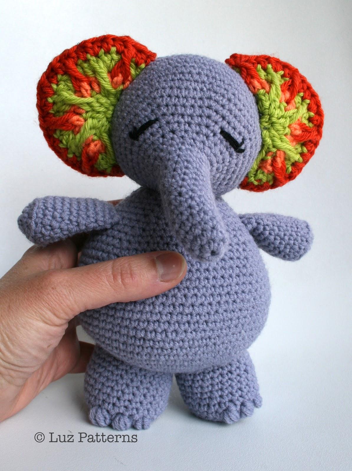 Emma the Big Elephant Amigurumi Crochet Pattern Printable PDF ...   1600x1194