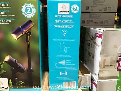 Costco 922370 - Highlight parts of your yard with the Alpan SmartYard Smart Focus LED Solar Spotlight