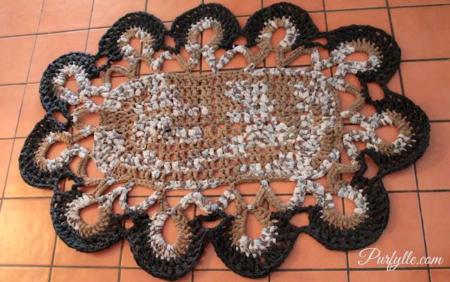 Sheet Yarn Crochet Rug