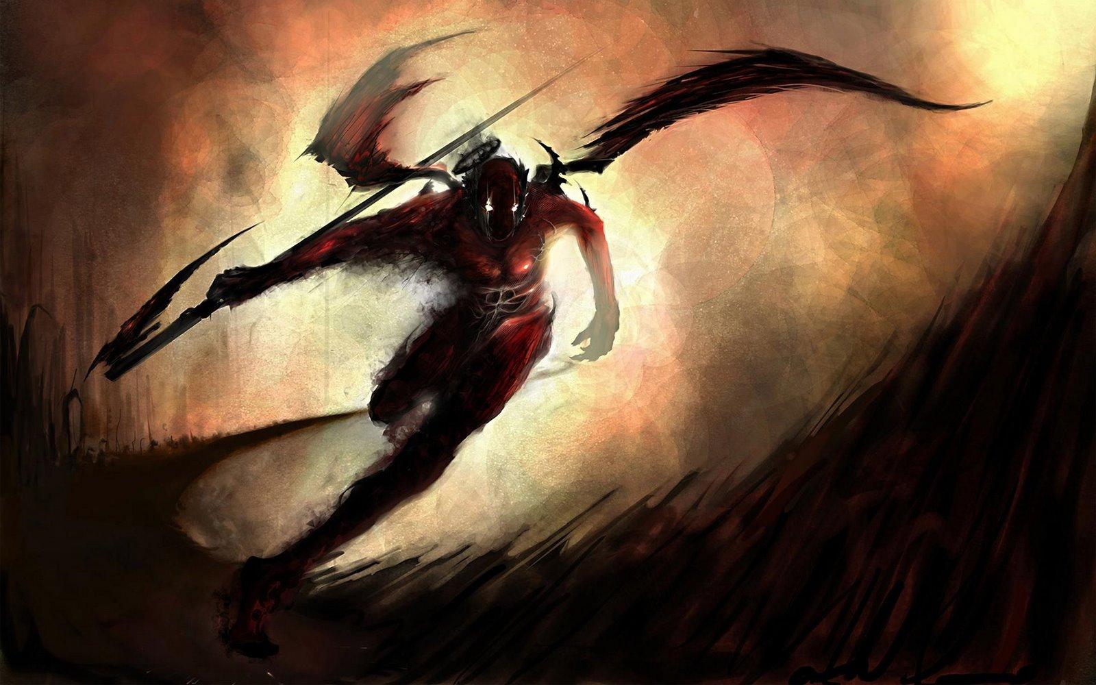 scary image of angel - photo #13