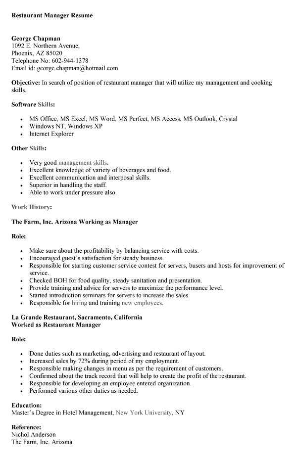 Sample Resumes   Resume Results Sample Resume for Freshers