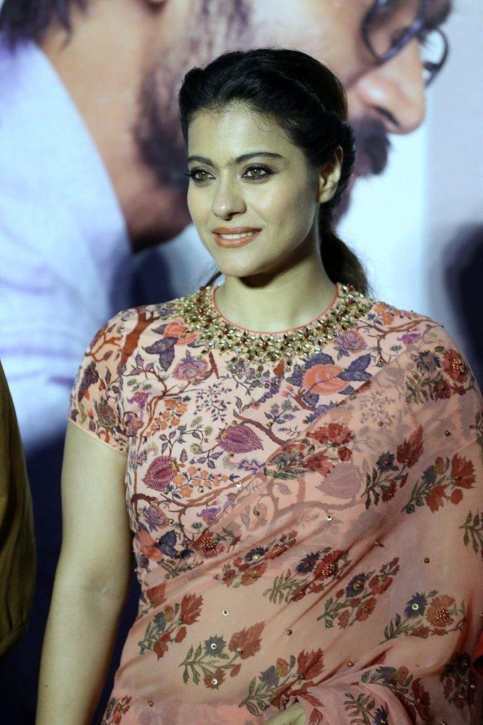 Kajol Mukherjee In Pink Saree At Vip 2 Telugu Movie Press Meet