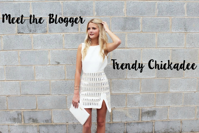 Meet the blogger series: Molly Hogan from Trendy Chickadee! Check out my interview with the Trendy Chickadee herself.