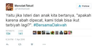 Curhat fahri hamzah mengenai pemecatannya oleh PKS