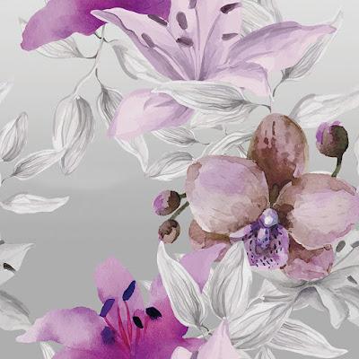 papel pintado botánica orquídeas