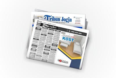 pasang iklan indekos di koran tribun jogja
