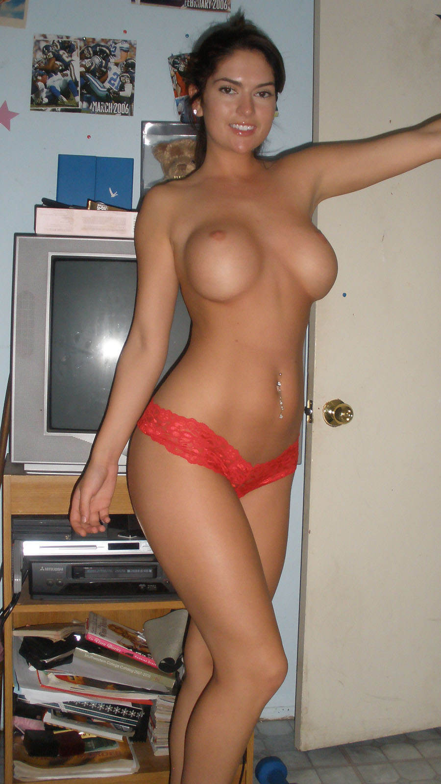 Hot Sexy College Teens Nude  Busting Out Her Enormous -6767