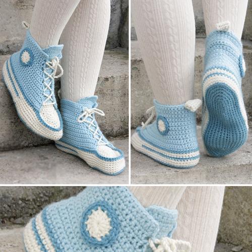 Let's Walk (Crochet Slippers) - Free Pattern