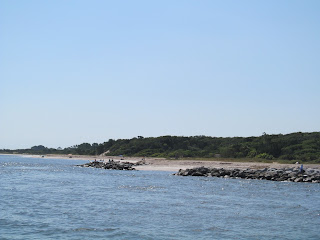 Fort Clinch Beach seen from the ocean