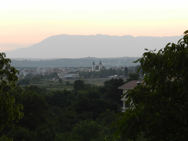 The morning view from my pansion of St. James, Medjugorje